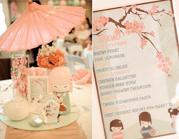 Japanese Kokeshi Doll Girl Birthday | Philippines Children's Party Blog