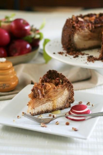 Healthy Apple, Pecan and Honey Caramel Cheesecake   Recipe   Caramel ...
