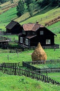 Romania, Bukovina region, a farm