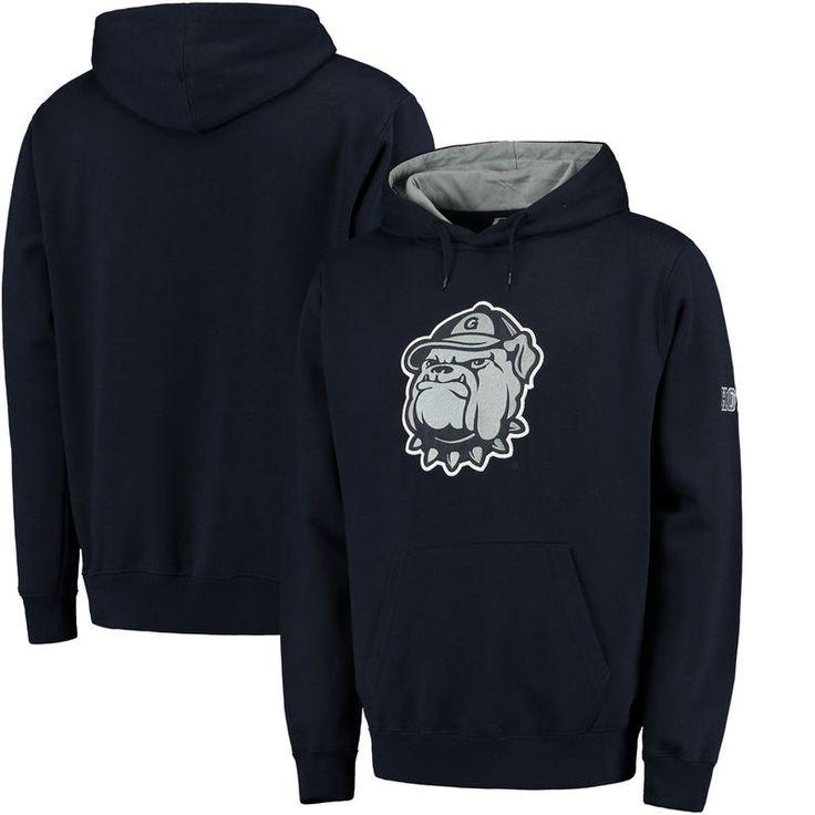 Georgetown Hoyas Stadium Athletic Big Logo Pullover Hoodie - Navy -
