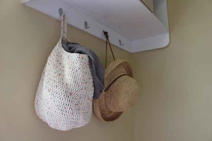 Large Crochet Hanging Basket | Craftsy