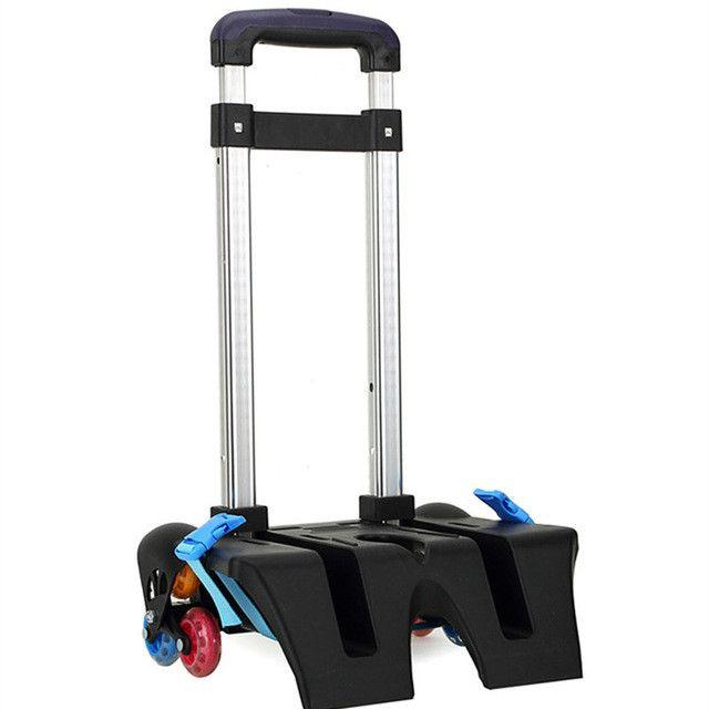 Aluminum alloy Pull Rod Bracket Roll Cart Trolley School Bags easy climb stairs,mochila infantil rodinha mochilas reduce load
