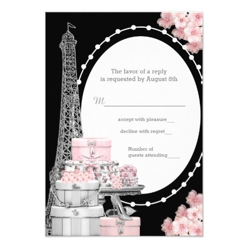 120 best paris birthday party invitations images on pinterest paris rsvp card filmwisefo
