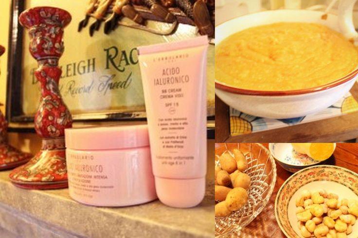 Secondo piatto - Purè di patate dolci, zucca e castagne. Ecco la ricetta: http://www.erbolario.com/ricettevegane/ricette/19-Pur%C3%A8_di_patate_dolci_zucca_e_castagne Ispirata da L'Erbolario Acido Ialuronico BB Cream Crema Viso - SPF 15