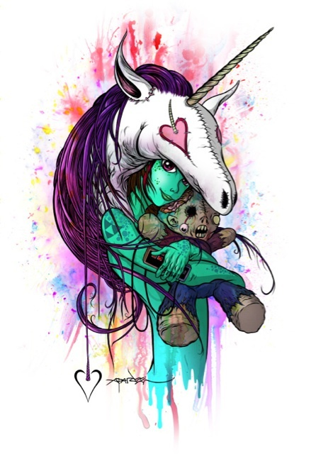 Alex Pardee This is my all time favorite piece by Alex Pardee. Alex is the person I have always looked up to when it came to art<3