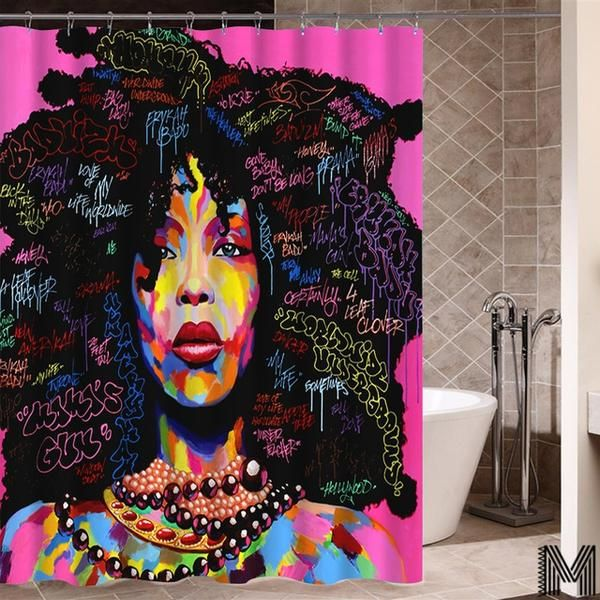 Afro Shower Curtains 2018 12 Variations Bathroom Curtains