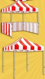 Carnival Game Booths with Side Walls - use for lion's den -- just go around sides with black...