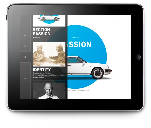 Porsche Christophorus 352 iPad - Kusk |  #appdesign #interface #design