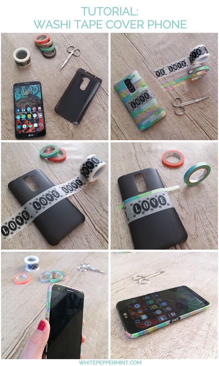 Mini tutorial per una cover phone con i nastri washi tape