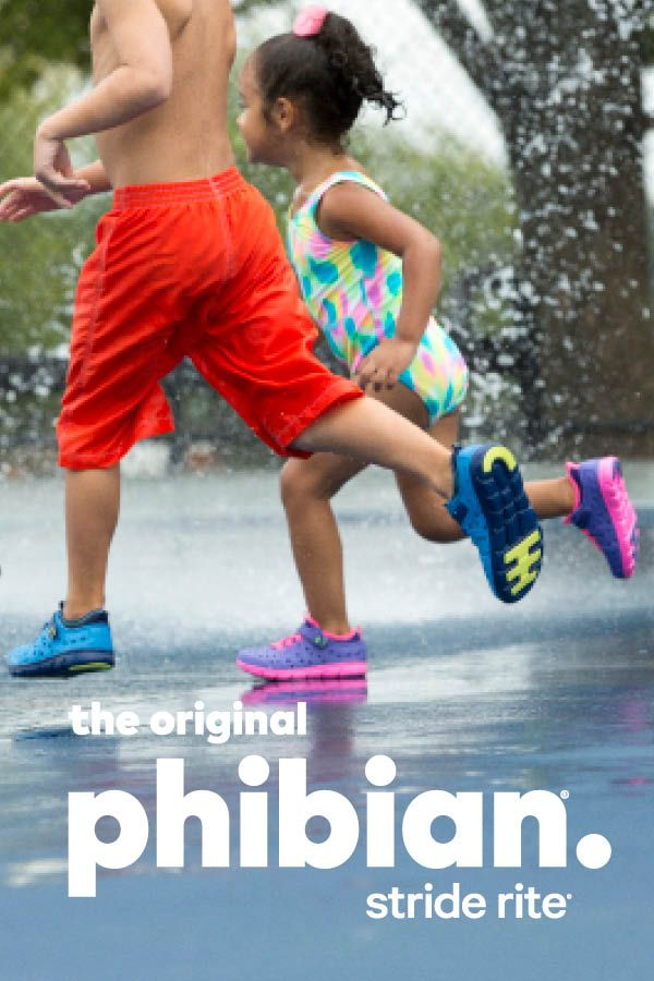 I spy traction pods! The Phibian's non-slip sole is perfect for the splash pad or play-time around the pool.