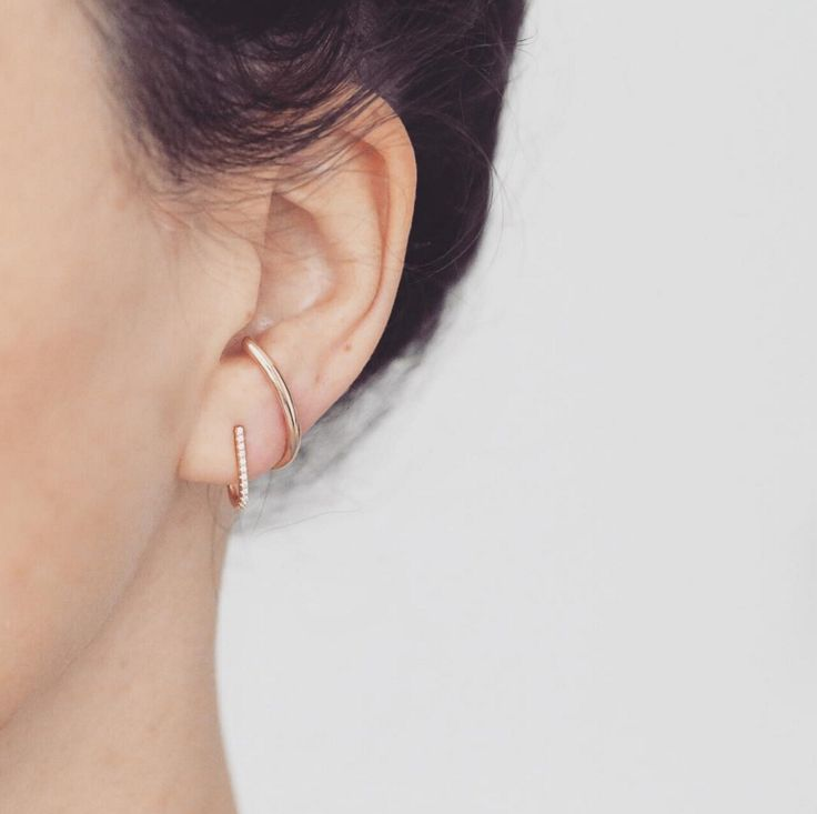Wrap Around Pave Earrings - local eclectic - 5      Our inspiration for our #earrings stack        #minimalistjewelry #minimalistjewellery #minimalist #jewellery #jewelry #jewelleries #jewelries #minimalistaccessories #bangles #bracelets #rings #necklace #earrings #womensaccessories #accessories