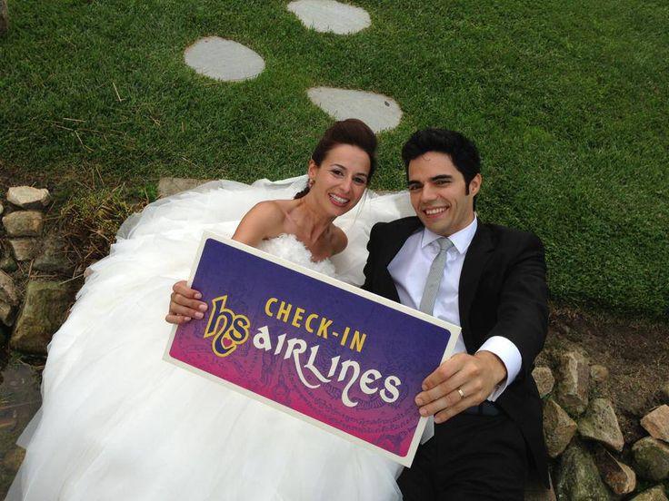 Placa check-in - Homero & Susana
