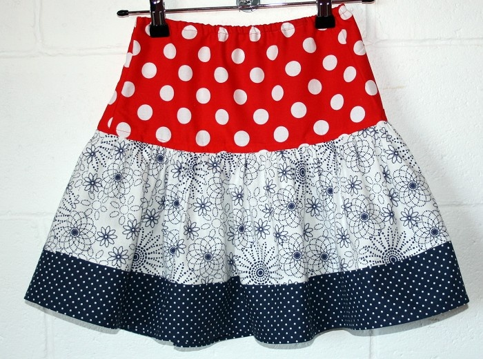 Red, White & Navy Skirt     Order in more fabrics here - http://www.facebook.com/media/set/?set=a.423115456319.212425.325318651319=3
