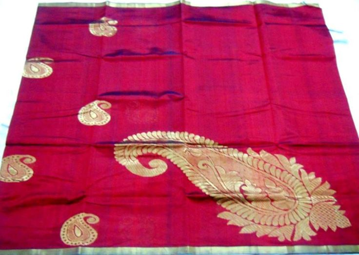 Maroon color silk cotton saree traditional # Indian # Sari www.kasavcollections.com
