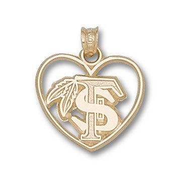 Florida State University - Feather Heart Charm