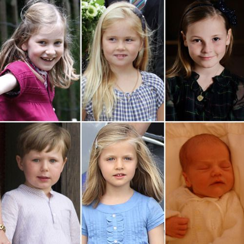 The Future Queens and King of Europe... Princess Elisabeth of Belgium, Princess Catharina-Amalia of The Netherlands, Princess Ingrid Alexandra of Norway, Prince Christian of Denmark, Infanta Leonor of Spain, & Princess Estelle of Sweden