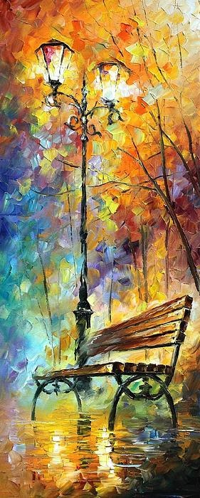 Leonid Afremov - Only knife is used without brushes..