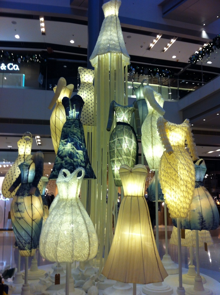 Dress art installation at IFC mall HK