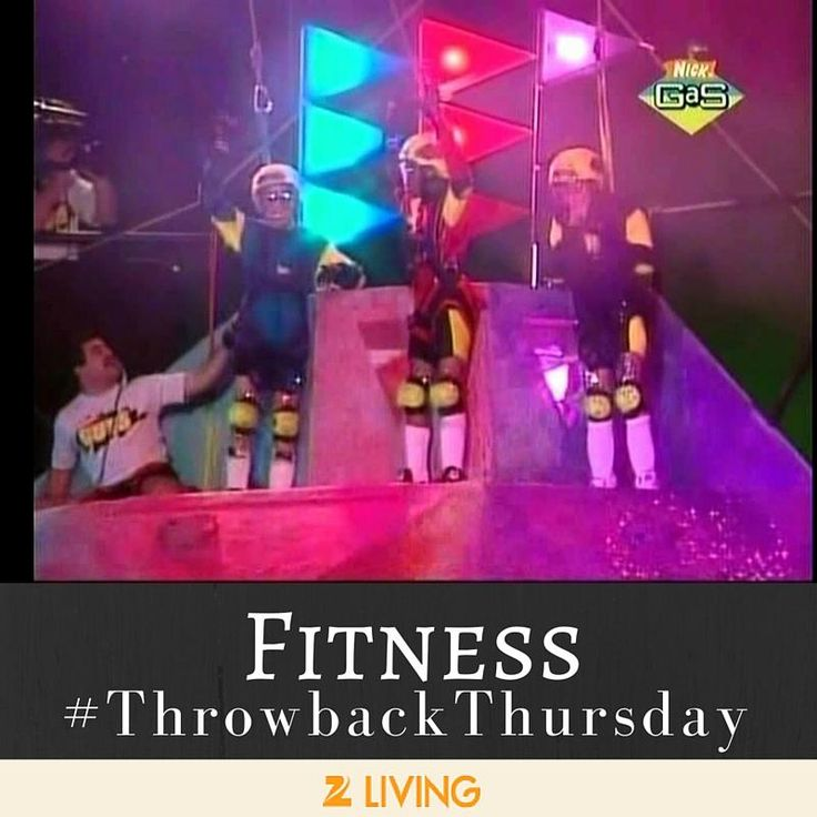 """#TBT to when our fitness goals were less """"tighten that core"""" and more """"take home a piece of the aggrocrag."""" Come on, '90's kids! Let's hear it for Nickelodeon Guts! 