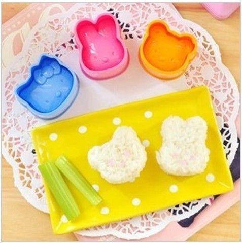 Формочки для еды Hello Kitty, 3 шт :: Товары для дома