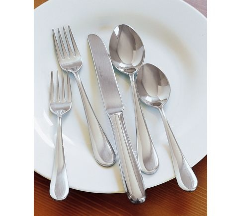 We could really use a full set of flatware. Most of our current pieces look like they came from a dollar store. I like the teardrop shape of these.