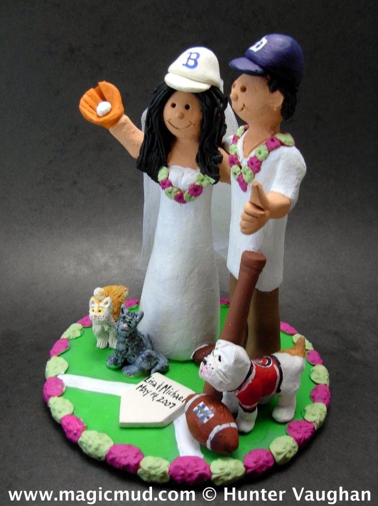 Detroit Tigers Wedding Cake Topper www.magicmud.com 1 800 231 9814 magicmud@magicmud... blog.magicmud.com twitter.com/... $235 #wedding #cake #toppers #custom #personalized #Groom #bride #anniversary #birthday #weddingcaketoppers #cake-toppers #baseballwedding #figurine #gift #wedding-cake-toppers #MLB #baseball #DetroitTigers