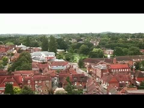 Farnham Town Video Tour (Farnham, Surrey, UK)  Quimby ancestral home