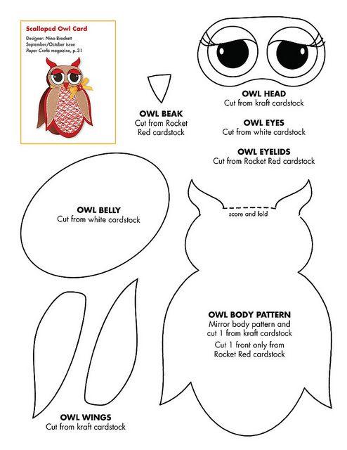 free: Owl Cards, Owl Crafts, Felt Patterns, Owl Templates, Free Owl, Paper Crafts, Felt Owl, Cards Templates, Owl Patterns