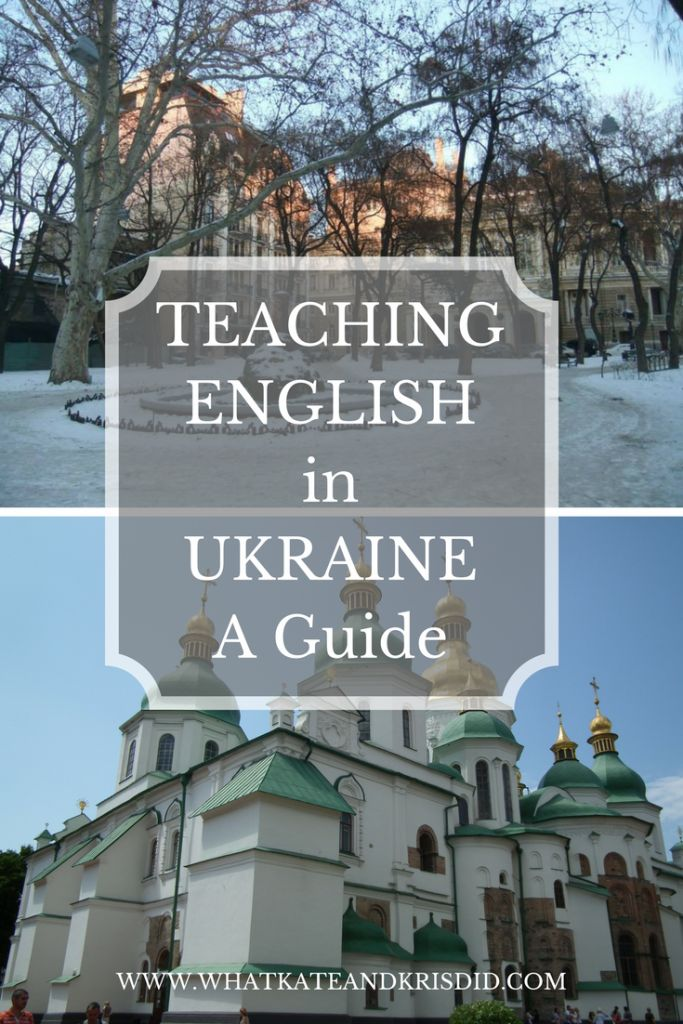 A guide to teaching English in Ukraine, including Kiev and Odessa. CELTA, TEFL, TESOL #ukraine #teachingenglish #tefl