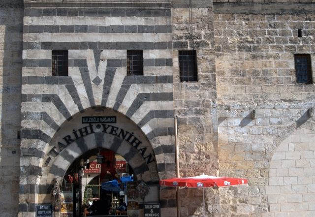 Tarihi Yenihan  - An historical building dating from 1557 in Gaziantep, Turkey