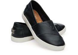TOMS | Avalon Sneaker Black Leather, musta