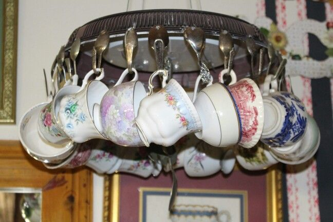 Old lightbfitting with hanging cups