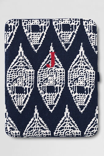 Snowshoe Needlepoint iPad Case Lands End hyFYT