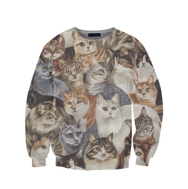 Ugly Birthday Cat: 31 Ridiculously Amazing Sweatshirts You Can Actually Buy
