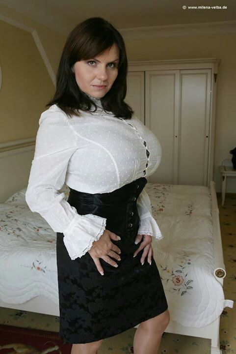 Milena Velba Breasts I Like In 2019 High Waisted Skirt Fashion Black White Tuxedo