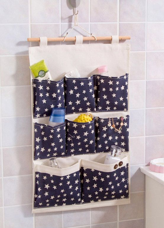 8 pockets star pattern storage pocket /wall pocket / by Sunncry