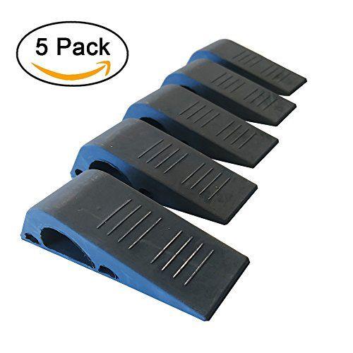 Door stopper Strong and Flexible Premium Grey Rubber Door Stop Wedge (5 Pack)