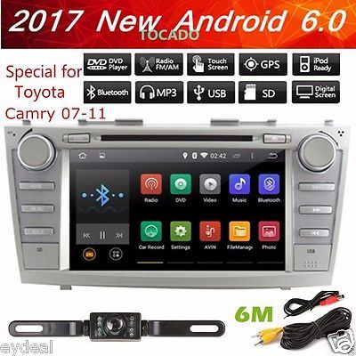 8 Toyota Camry 2007-2011 GPS Navigation Android 6.0 Car Radio Stereo DVD Player