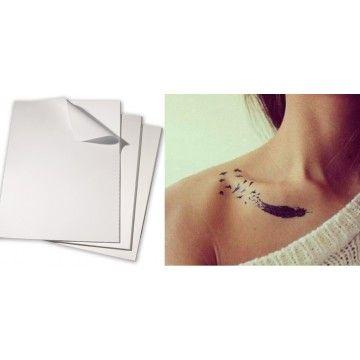 Papier transfert tatouage temporaire