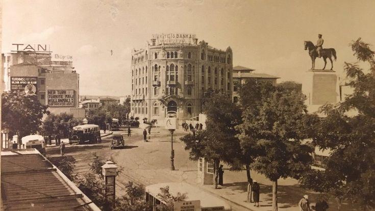 Ulus Meydanı'nın 1929 yılına ait çok güzel bir görüntüsü...