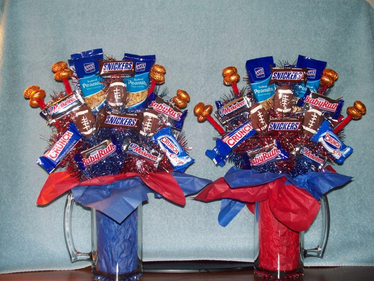 A candy bouquet for your favorite sports fan is great