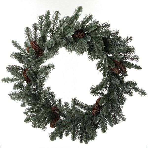 LED Pinecone and Fir Christmas Wreath