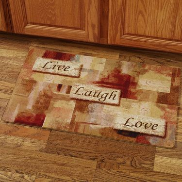Live Laugh Love Foam Kitchen Comfort Mat