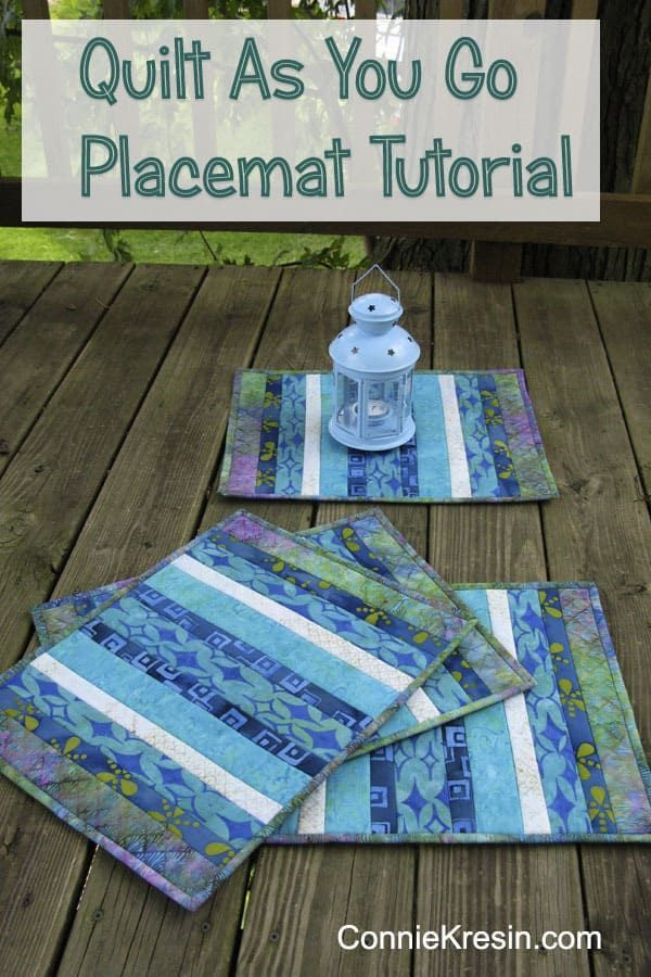 Easy To Make Batik Placemats With This Tutorial Placemats Patchwork Qayg Tutori Beginner Sewing Projects Easy Quilt As You Go Sewing Projects For Beginners