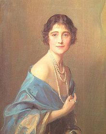 Lady Elizabeth Bowes-Lyon wife of King George VI.  Youngest daughter of Scottish aristocrat Claude Bowes-Lyon, 14th Earl of Strathmore and Kinghorne