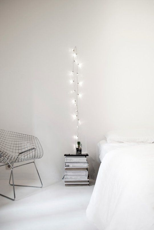 Fresh, Fun Trend: Get Creative with Vertical Hanging String Lights | Apartment Therapy