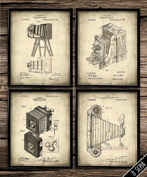 Vintage Patent Photographic Cameras | Vintage Prints | Patent Print | Home Decor | Office Decor | Printable Wall Art | Vintage Art | 8x10 |