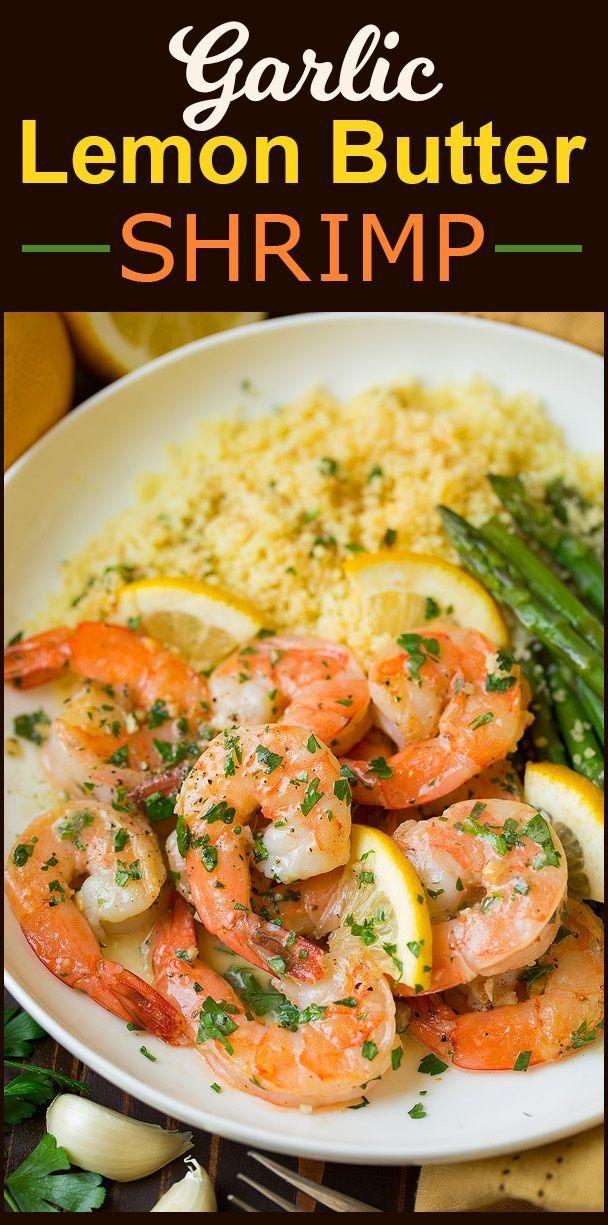 Garlic Lemon Butter Shrimp - Cooking Classy