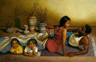 "Bakari Art: ""All in the Family"" by Bakari is now back in inventory!!!"