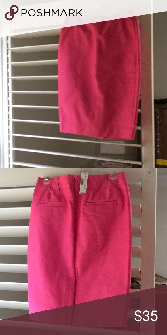 J Crew hot pink pencil skirt size 2 NWT J Crew hor pink pencil skirt - size 2 - new with tags - never worn J Crew Skirts Pencil